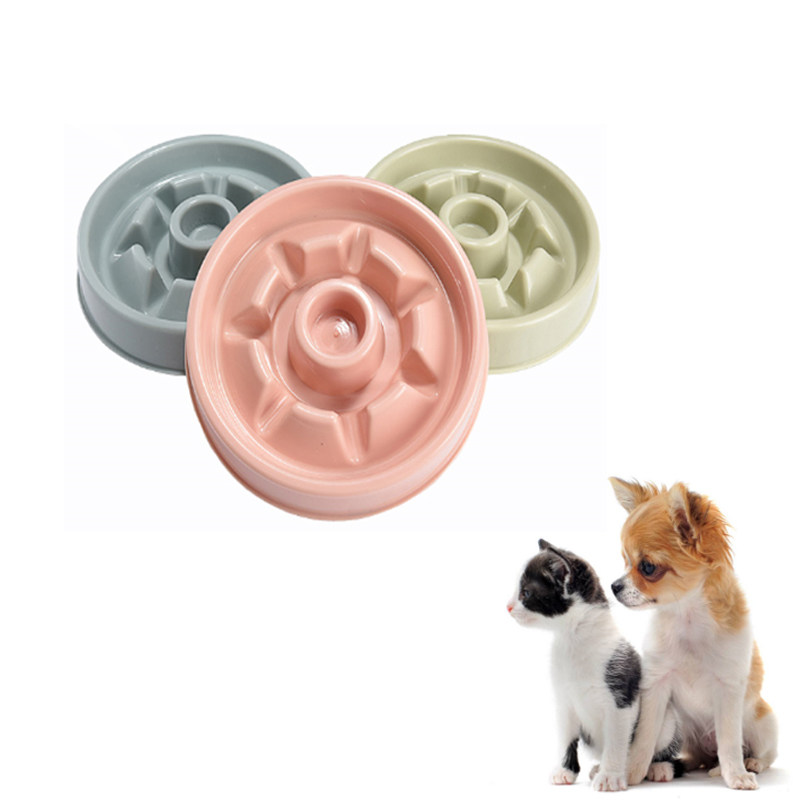 Pet Bowls Flower Shape Prevent Choke Puppy Small Dog Cat Feeder Food Bowl Pet Dog Slowing Eating Bowl For Reduce Obesity PB030