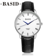 BASID Women Watch With Box Leather Band Strap Quartz Wristwatches Fashion Casual Lover Couple Watches Female Ladies reloj hombre