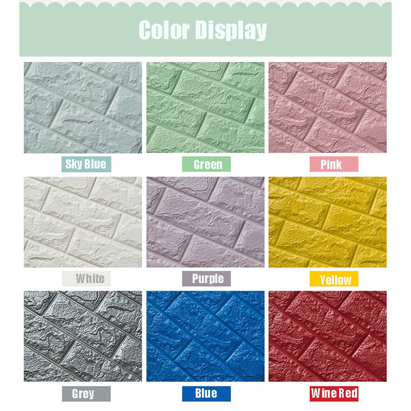 70x77 см ПЭ Пена 3D стикер на стену s безопасный домашний декор обои декор для стен Сделай Сам кирпич Гостиная Декор для детской комнаты наклейка