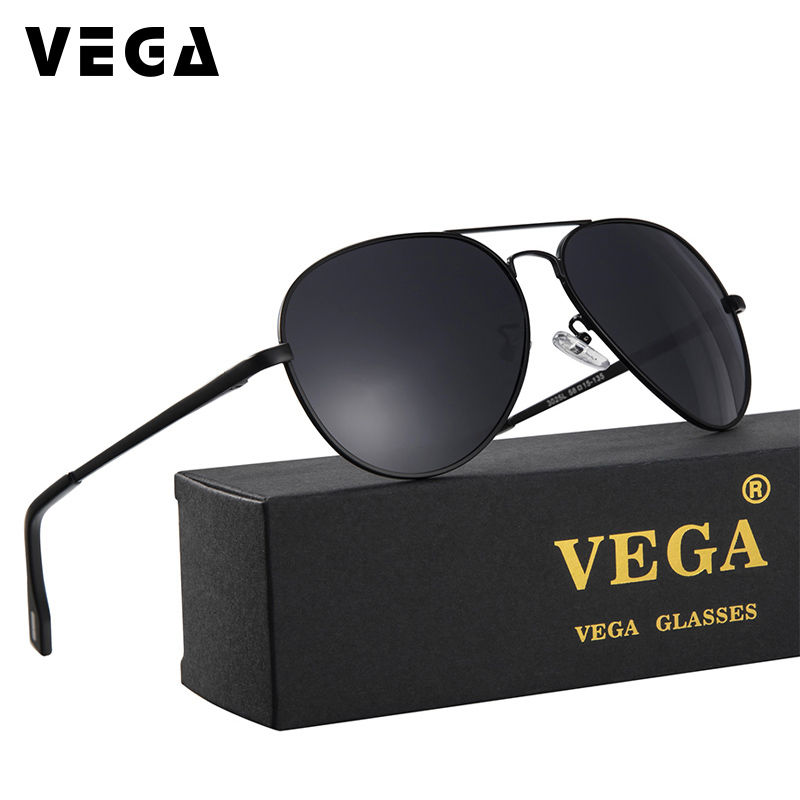 VEGA Aviation Sunglasses Polarized 2017 New Classic Polarized Pilot Gafas de sol Hombres Mujeres Funky Day Night Driving Gafas 012