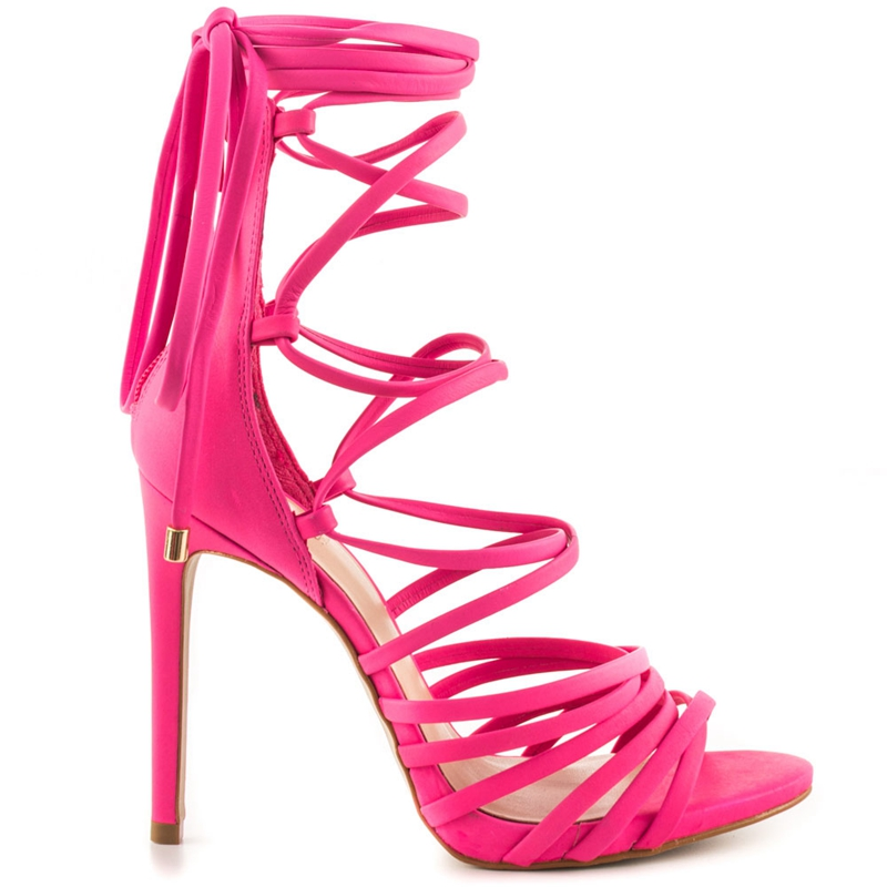 d0a2904153f Hot Pink Gladiator Sandal Women Stilettos High Heels Custom Color ...