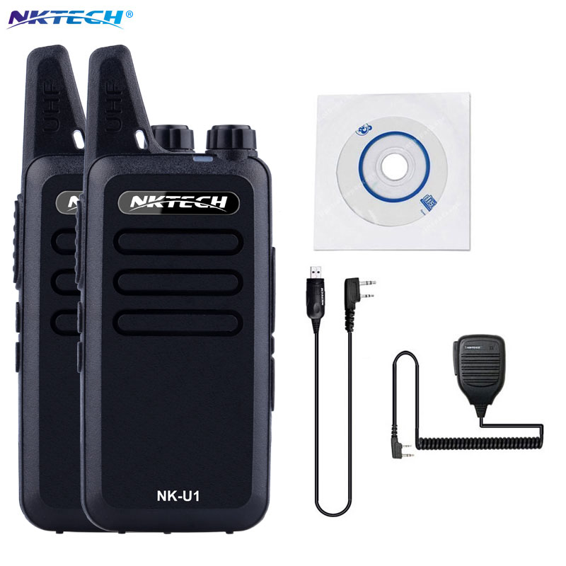 2PCS Mini Walkie Talkie NKTECH NK U1 VS WLN KD C1 400 470MHz 5W 16 Channels