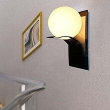 Современный Глобус Настенные Светильники Спальня Прикроватные Мяч Стены Лампы Свет Ванной Свет Настенного Бра