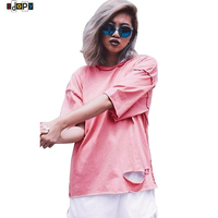 2016 Summer Hip Hop Mens And Women Pink T Shirt Anti Wear Tailoring Top Quality Brand
