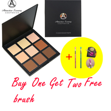 Hot 9 Colors Contour Powder Palette Attractive Scenery Brand Makeup Pallete Foundation Face Pressed Get Two Free Brush