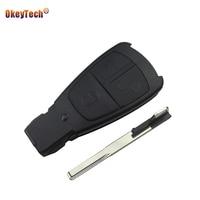 OkeyTech 3 Knoppen Keyless Entry Afstandsbediening Sleutel Shell Case Smart Autosleutel Cover Fob Ongesneden Blade Insert Key voor Mercedes Benz