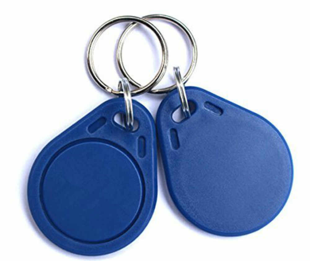Color Azul 100 Piezas UHPPOTE Proximidad Grabable Writable Rewrite Blanco 125KHz RFID Llave Etiqueta Tag Acceso Tarjeta T5577 Chip