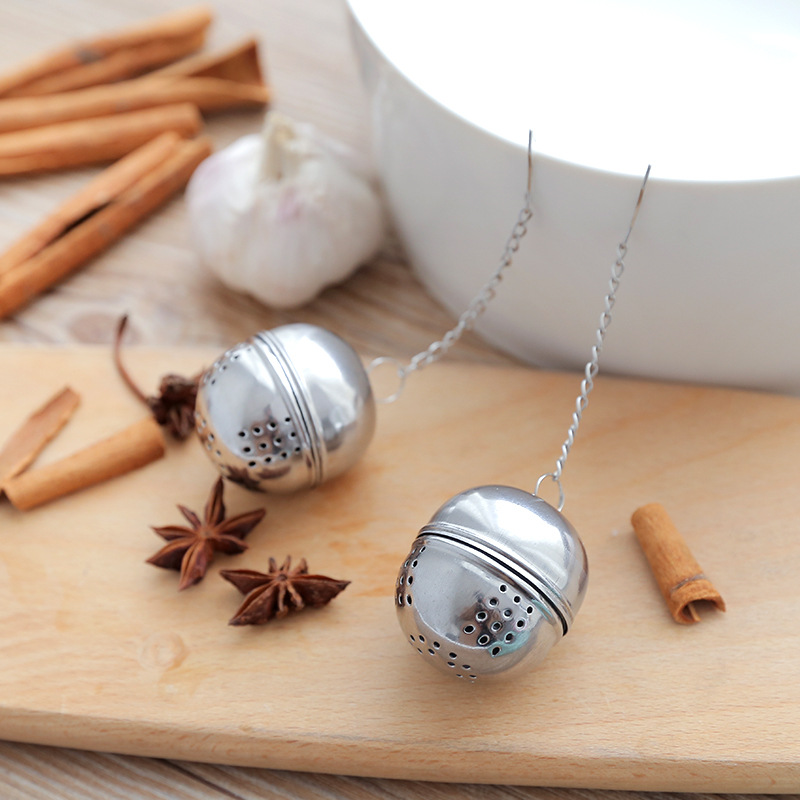 1pc Stainless Steel Ball Tea Infuser Mesh Filter Strainer Hook Loose Tea Leaf Spice Home Tea Accessories