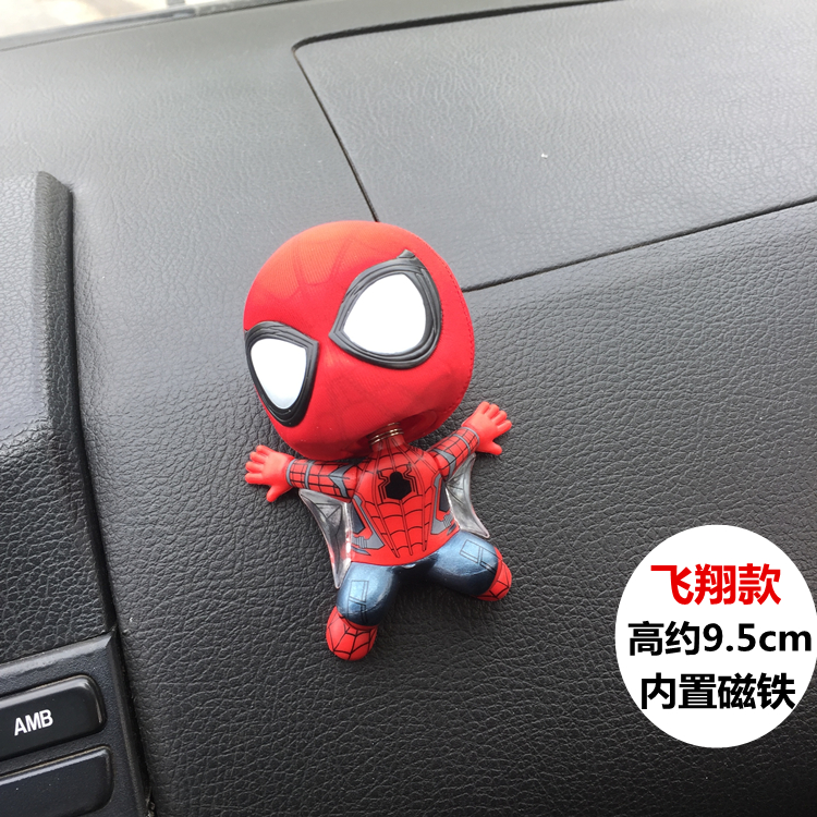 2018 Q Version Spiderman Heroes Action Figures Toys PVC Shake Head Figures Toys