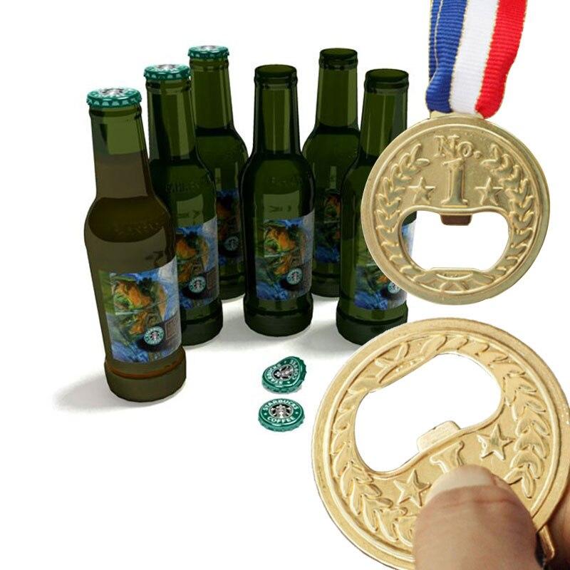 Beer Opener Gold Medal Restaurant Novel Wine Opener Champagne Zinc Alloy Economic Openers Drop Shipping photo shoot