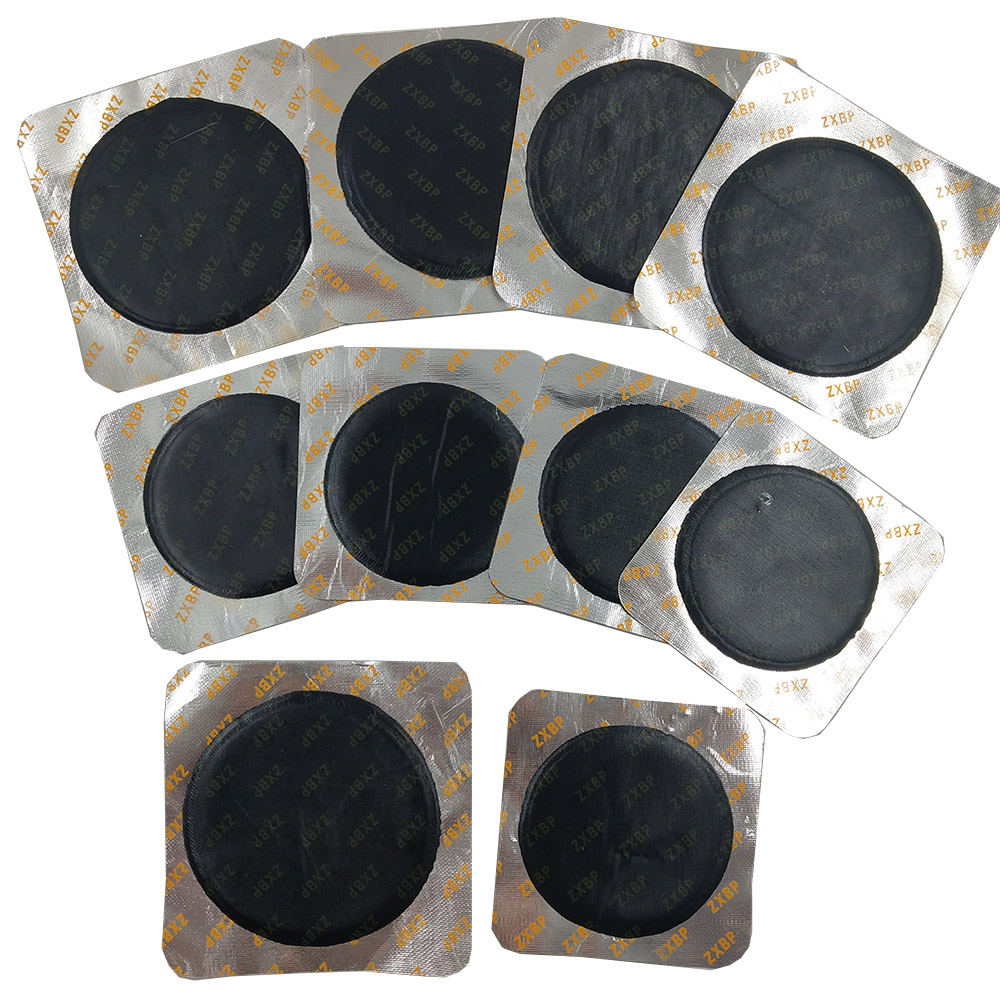 10Pcs/Set Universal Round Shape Tyre Repair Cold Patch Tire Repair Rubber Patch Tool For Car Motorcycle Multifunctional Patch