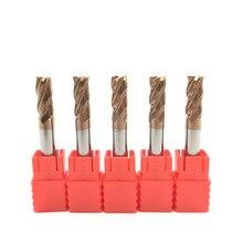 5 pces hrc60 6mm d6x15xd6x50l 4 flauta endmills carboneto sólido comprimento padrão lateral fresagem entalho perfil rosto moinho espiral bits