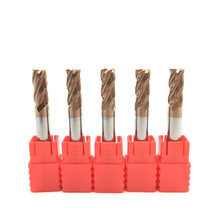 5 pcs hrc60 6mm d6x15xd6x50l 4 플루트 솔리드 카바이드 엔드 밀 표준 길이 측면 밀링 슬롯 형 프로파일 밀 스파이럴 비트