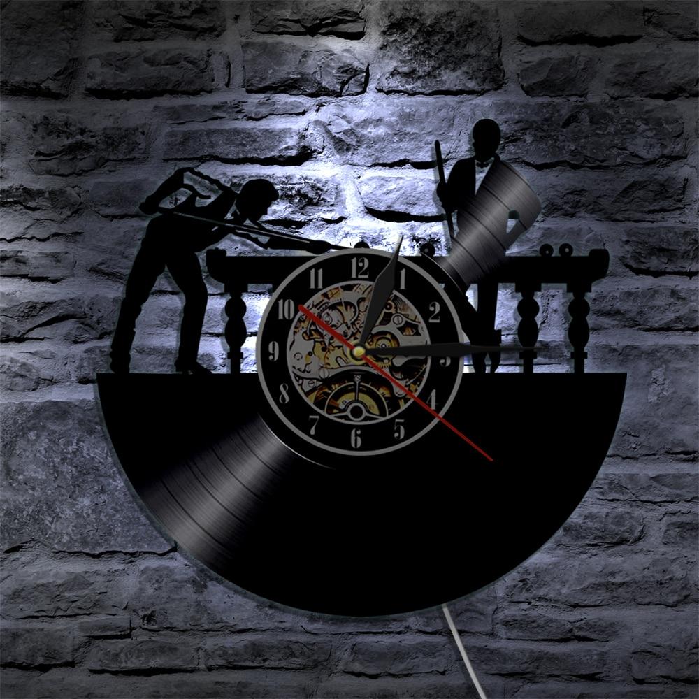 1 Stuk Biljart Pooltafel Speler Muur Vinyl Led Wall Verlichting ...