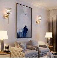 Breve Moderna Lâmpada de Parede De Cabeceira Abajur de Vidro Único Ouro Luz Sconce Luz de Parede Design Criativo Luz Do Corredor