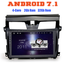 Android 7.1 Quad core car radio gps no dvd for Nissan altima Teana with 2G RAM wifi 4G USB radio RDS audio stereo