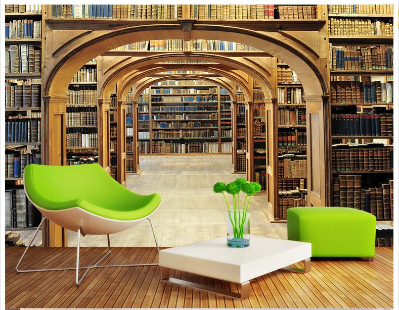Living Room Wall Murals popular library wall murals-buy cheap library wall murals lots