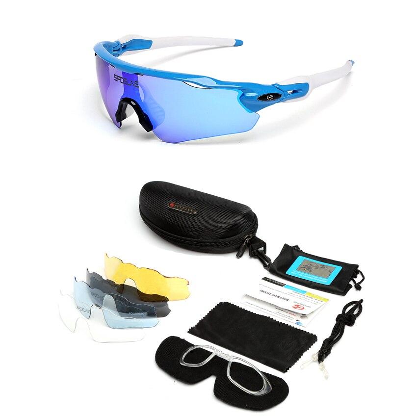 Prix pour # Cool lentille #2017 5 Objectif Polariser Vélo Lunettes Vélo De Montagne lunettes de Soleil VTT Moto Lunettes Myopie UV400 Lunettes De Sport