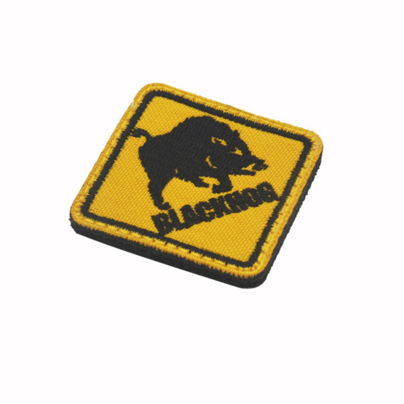 New Arrived BLACKHOG Wild Boar Mini Armbands Backpack Badge Zhangbu Standard Cloth Stickers
