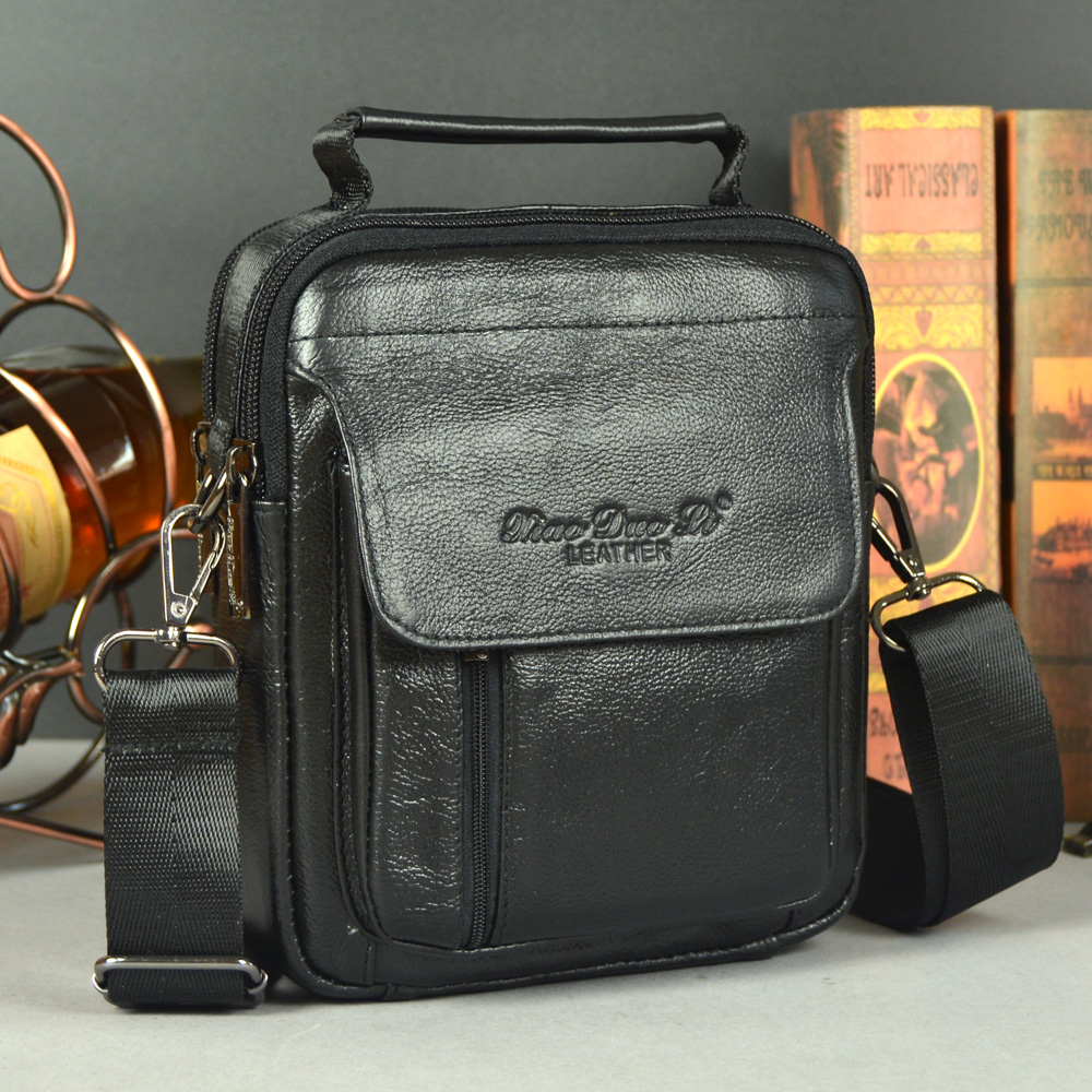 homens do couro Big Bag Inner Structure : Zipper Secret Pocket, Credential Pocket