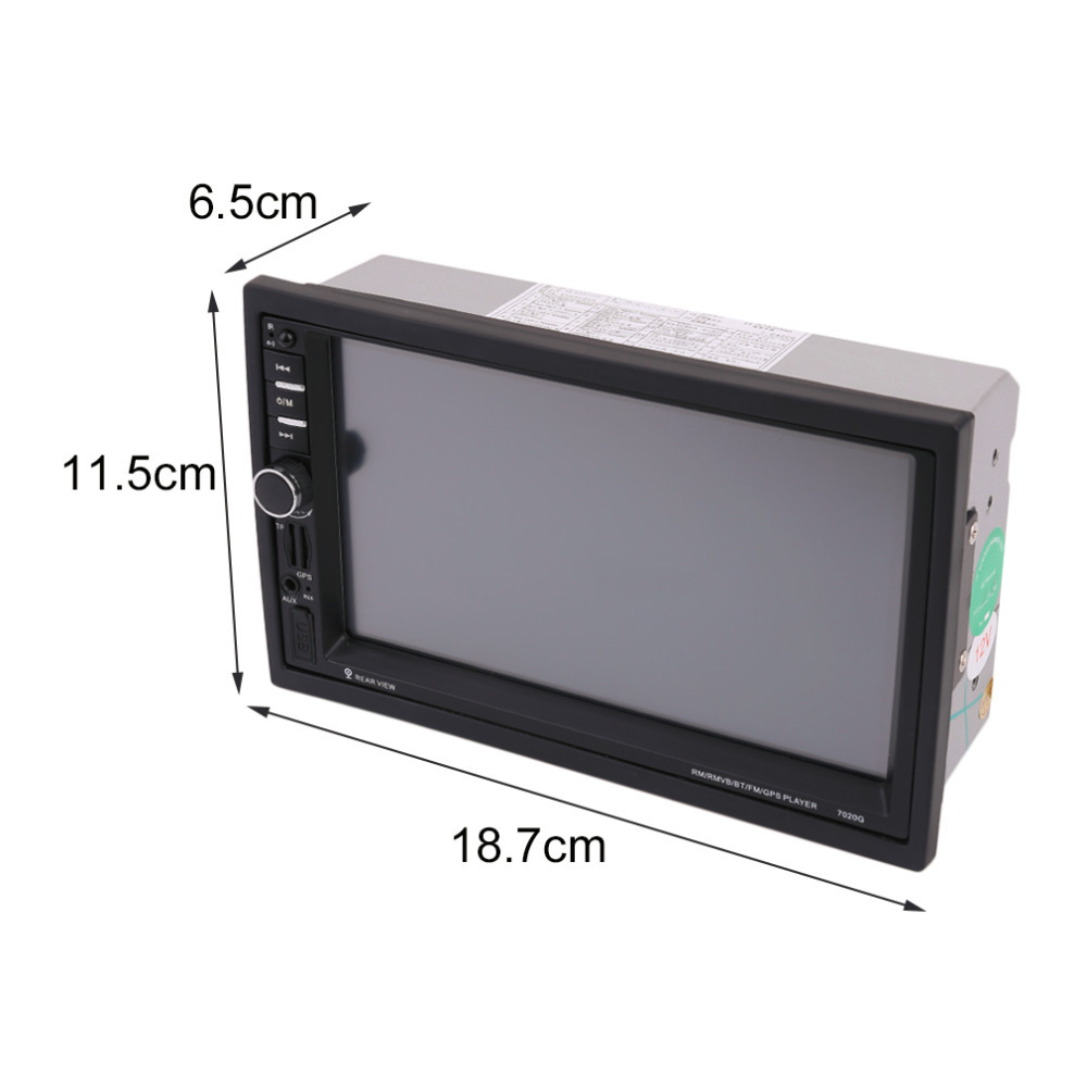 Hot 7020G 7 inch Touch Screen Car Bluetooth Audio Stereo MP5 Player with Rearview Camera GPS Navigation FM Function With Camera car radio audio stereo with 2usb bluetooth tf fm mp4 player touch screen support rear camera hot sale 2din 6 2 inch