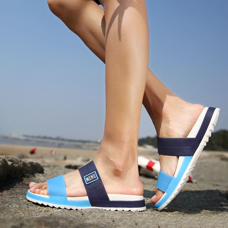 LAISUMK Summer Beach Men Slippers Casual Shoes Double Buckle Man Slip on Flip Flops Flats Camouflage Flip Flop Indoor & Outdoor 97