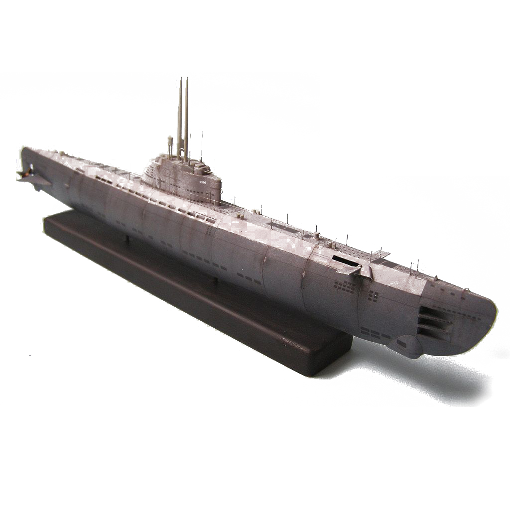 DIY 1:200 U-2536 U-boot Type XXI Submarine Paper Model Assemble Hand Work 3D Puzzle Game DIY Kids Toy