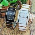 2016 новые элегантные часы с бриллиантами для мужчин и женщин  аналоговые Кварцевые Керамические стальные квадратные часы LONGBO  роскошные под...