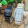 2016 nouveaux diamants élégant hommes dames montres analogique Quartz céramique acier carré LONGBO montre Couple amant luxe cadeau montre