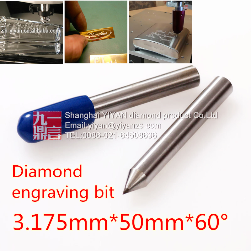 2pcs Diamond Drag Engraver Bit 3.175mm Shank 60 Degree Diamond Engraving Point For Dremel Engraver Use Engraving On Metal Glass