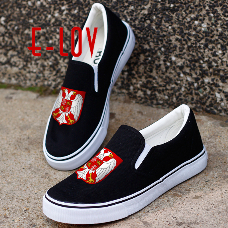 E-LOV Design Yugoslavia Country National Emblem Canvas Shoes Printed Yugoslavian Yugodivas Flat Loafers e lov new arrival luminous canvas shoes graffiti pisces horoscope couples casual shoes espadrilles women