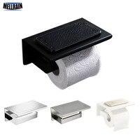 Bathroom Hardware Accessories Toilet Paper Holder Matt Black White Brushed Mirror Chrome plated Soild Metal Paper Rack
