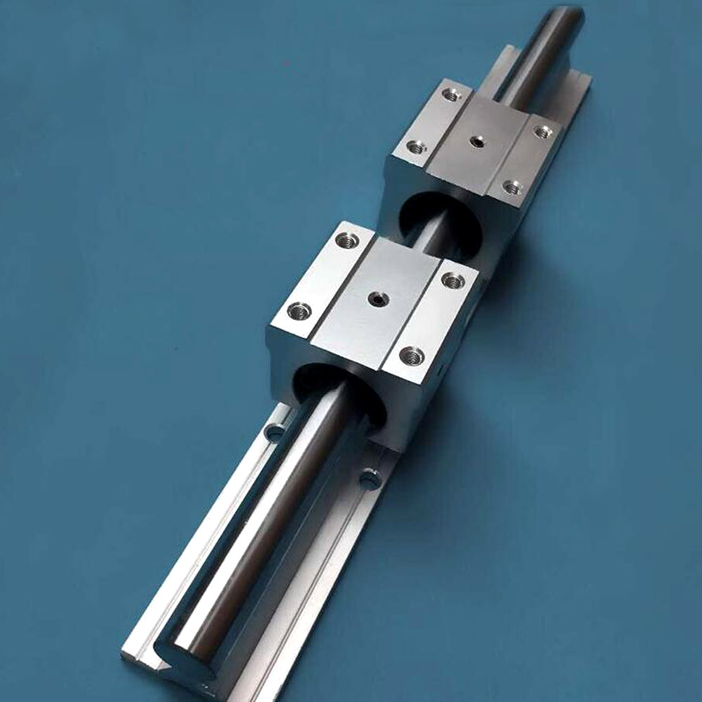 1SET linear bearing slide rail linear guide SBR12-700mm (1PC rails+2PCS SBR12UU blocks) section three track rail drawer slide rails 3 row ball bearing linear guides thicker