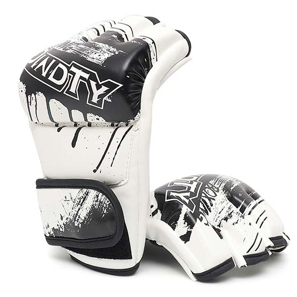 Adult Thick Boxing Gloves MMA Gloves Half Finger Sanda Taekwondo Fight Muay Thai Sandbag Glove Professional Training цена