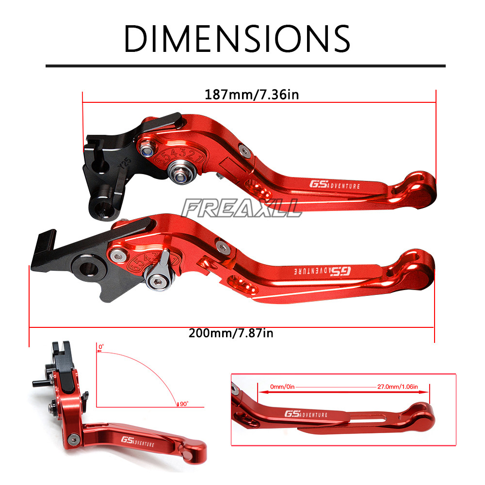 CNC Aluminum Motorbike Levers GS ADVENTURE Motorcycle Brake Clutch Levers for BMW F800GS ADVENTURE R1200GS ADVENTURE LC in Levers Ropes Cables from Automobiles Motorcycles