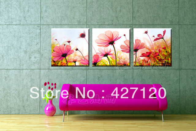 Canvas Painting Ideas Oriental Decorations Modern Wall Art Sculpture Ocean Waves Oil Frame Asian