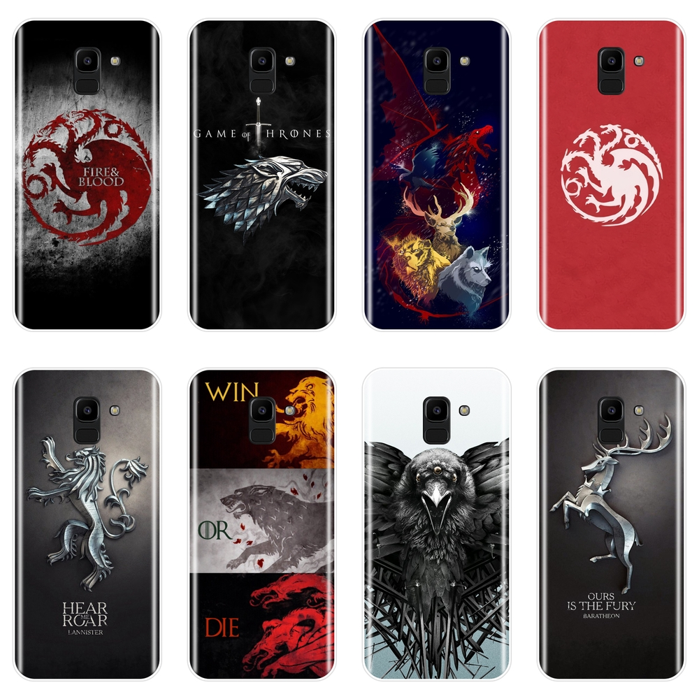 Men Animal Game of Thrones Soft Silicone Phone Case For Samsung Galaxy J2 J3 J5 J7 2016 2017 Prime J4 J6 J8 Plus 2018 Back Cover image