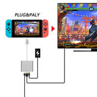 1080P HDMI Type C Adapter For Nintend Switch Charging Portable Dock For Switch NS USB 3.0 to HDMI Video Converter