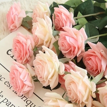 10 Pcs Home Decoration Latex Rose Simulation Angle Artificial Silk Flowers for Wedding Party