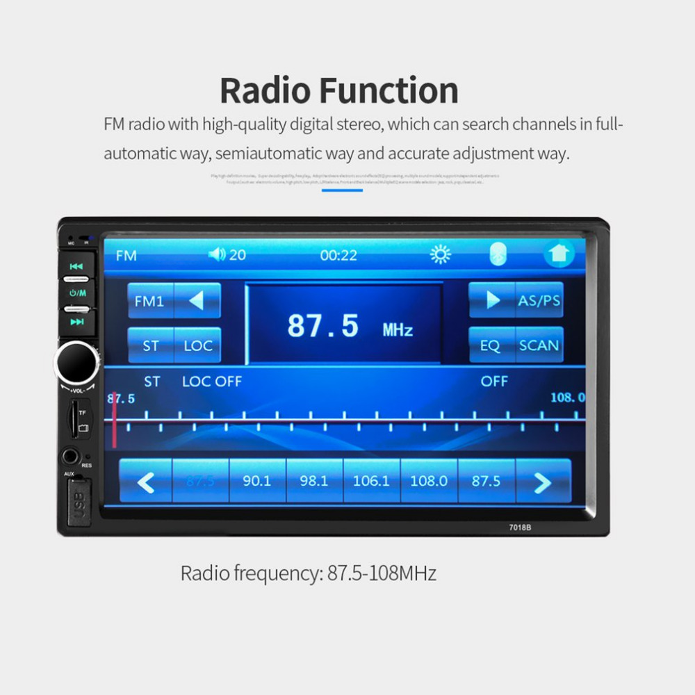 лучшая цена 7 inch Car Radio Multimedia Audio Player Bluetooth LCD Display Touch Screen Stereo Music MP5 Player Hand Free FM Transmitter