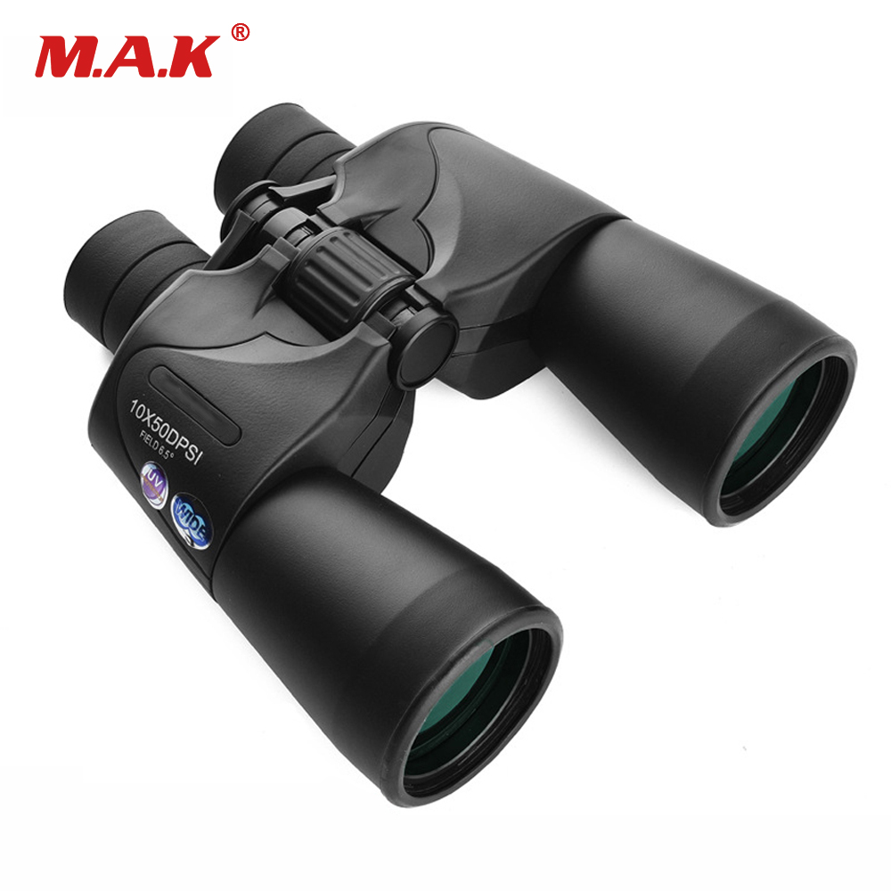 10x50 Central Adjustment Zoom Focus Portable Binoculars HD Prism System BAK4 Telescope for Hunting Camping Traveling