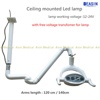 Ceiling mouthed Medical lamp with Sensor Oral Light Lamp with Ceiling mounted arms implant surgery lamp 2018 CE approval