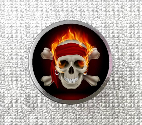 Vintage Fire Skull Knobs Drawer Dresser Knob Diy Cupboard