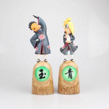 Figuras de Anime 23 CM Naruto Akatsuki a Deidara y Tobi Tobb PVC figura de colección modelo Juguetes