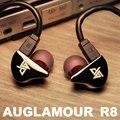 Original auglamour r8 gancho do ouvido fone de ouvido de metal new champagne da cor do ouro com 2-pin cabo frete grátis suporte para iphone xiaomi