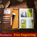 Dagboek Travel Journal Planner Craft Vintage Lederen Notebook A5 A6 A7 Rind Bindmiddel Schetsboek Voor Reizen filofax spiraal