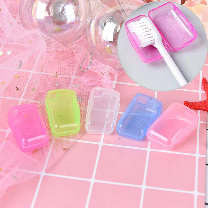5Pcs/set Portable Tooth brush Cover Holder toothbrush Headgear Travel Hiking Camping Brush Cap Case New Arrival image
