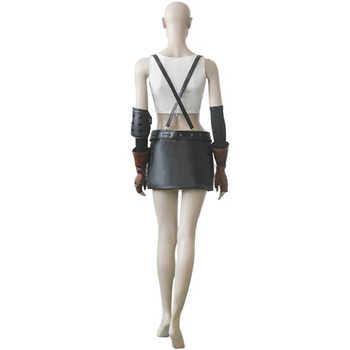 Final Fantasy VII Tifa Lockhart White Version Cosplay Uniform Suit Women Girl\'s Halloween Costumes Custom-made Free Shipping