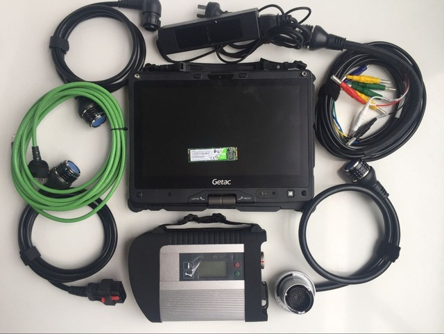 Special Price mb sd connect compact 4 star diagnosis c4 with laptop getac v110 i5 4g super ssd software sprinter 12v car 24v truck scanner