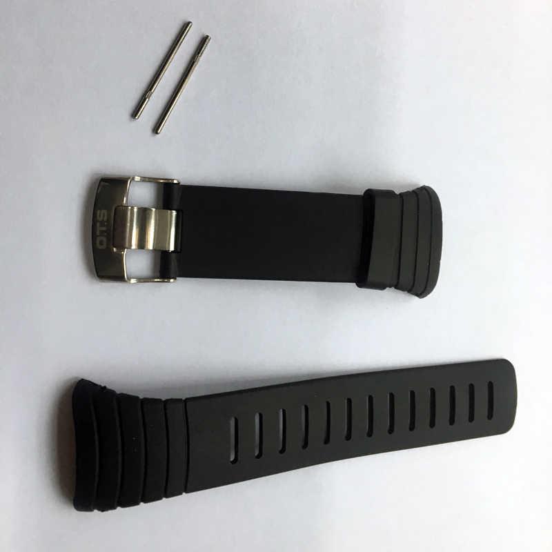 Hộp đồng hồ OTS Chống Thấm Nước TPU Dẻo Silicone Lõi Cao Su Dây Dự Phòng Dây 210MM Chiều Dài Dây 24MM Rộng Sửa Chữa Thay Thế dây đeo đồng hồ